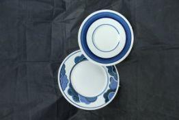 "A Villeroy & Boch ""Blue Cloud"" part breakfast service (54 pieces)"