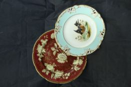 """A set of fourteen Wedgewood """"Ruby Tonquin"""" plates and a set of eleven Continental dessert plates,"""