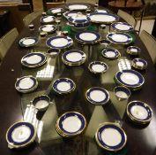 "A Coalport ""Athlone Blue"" pattern dinner service (approx 110 pieces)"