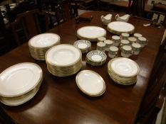 """A collection of various dinner wares to include Coalport """"Gold Wheat"""" and """"Golden Melody"""","""