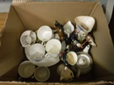 A collection of Grimwade's Peter Rabbit tea wares to include four cups, one milk jug,