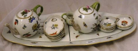 A collection of Herend porcelain wares to include fish platter with drainers,