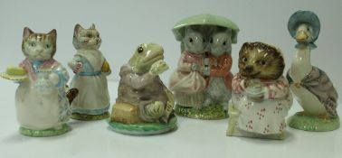 A collection of Beswick Beatrix Potter figures including Tabitha Twitchit 1961,
