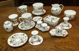 """A Crown Staffordshire fine bone china part tea set """"Hunting Scene"""" pattern (20 pieces approx)"""
