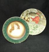 """A collection of seven various decorative plates including Doulton Series Ware """"The Squire"""","""