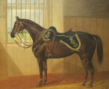 """WALTER HARROWING (1847-1904) """"A hunter of the 14th Hussars"""","""