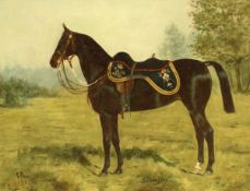 """GEORGE PAICE (1854-1925) """"Beltenebrosa - A charger of the 12th Lancers"""","""