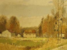 "GERARD PASSET (b. 1936) ""Village de France No."