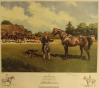 """AFTER TERENCE CUNEO (1907-1996) """"Royal stallion"""", colour print, limited edition No'd."""