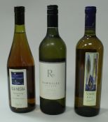 A collection of various white wines including Isla Negra Chardonnay 2003 x 5,