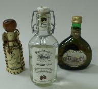 A box of various miniatures to include Highland Malt Scotch Whisky in a Loch Ness Monster bottle,