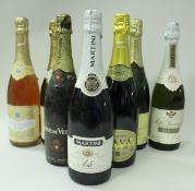 Eight bottles of various sparkling wines (8)
