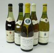 Eight various wines to include Clos Vougeot Pierre Ponelle 1966 x 1,