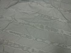 A pair of watermark silk duck egg blue interlined curtains,