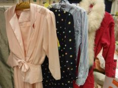 A collection of 1970s and later ladies clothing to include Laura Ashley,