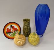 """A collection of various china wares to include Wedgwood """"World of Clarice Cliff"""" plates,"""