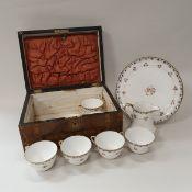 A box containing a Noritake part tea service,
