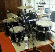 A Tiger five piece drum kit with High hat and Symbol