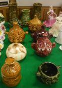 """A collection of Sadler storage jars including """"Celery"""", """"Apple Sauce"""", """"Beetroot"""","""