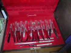A modern Community Plate Tarnprufe canteen of cutlery,