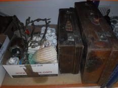 A box of miscellaneous china,