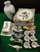 "A collection of Portmeirion ""Botanic Garden"" wares including plates and coffee cups,"