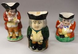 A collection of three various Toby jugs including two A E Gray & Co.