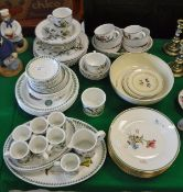 "A collection of various dinner wares to include Portmeirion ""Botanic Garden"","