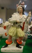 """A 19th Century Staffordshire flat back figure """"Will Watch"""","""