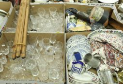 Six boxes of assorted sundry household china and glass