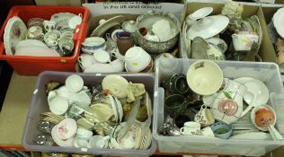 Five boxes of assorted decorative china wares etc