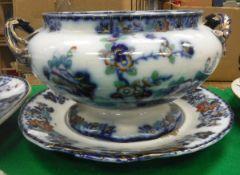 "A Bombay ""Japan"" pattern soup tureen, serving plate,"
