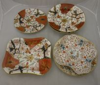 A circa 1800 Chamberlain's Worcester floral decorated bowl, a similarly decorated Derby plate,