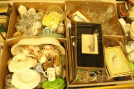 Seven boxes of various household china and glass to include decorative china,