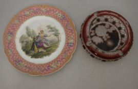 A 19th Century Sèvres hand-painted cabinet plate,