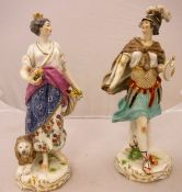 """A pair of Samson figures of """"Mars"""" and another emblematic of """"Europe"""""""