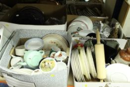Five boxes of assorted decorative china and glass ware