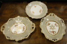 A 19th Century Staffordshire dessert service decorated with seashells,