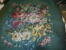 Two sets of early 20th Century tapestry style seat covers,