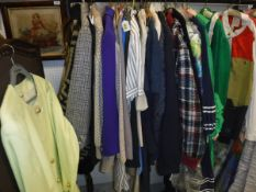 A large collection of vintage 1980's and later Celine clothing to include cardigans, suede jacket,