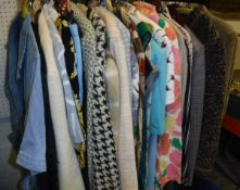 A collection of 1980's and later ladies clothing to include various jackets,