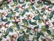 "Two pairs of Warners ""Persimmon"" cotton sateen interlined curtains in cream,"