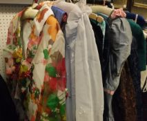 A collection of vintage 1980's and later evening wear, various makers to include John Marks,