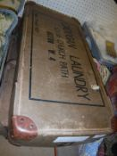 "Two cardboard laundry boxes inscribed ""Cadogan Laundry 52-56 Church Path Acton W4..."