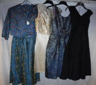 A collection of 1950's / 60's evening dresses, approx Size 8 and 10,