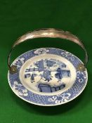 A Chinese Kangxi blue and white plate,