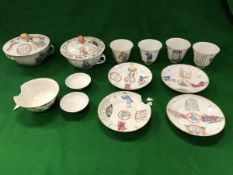 A set of three Chinese Xian Feng (1851-1861) cups and saucers,