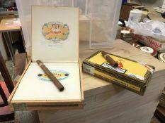"One box Cohiba Maduro 5, one box ""10 Genios"" Havana cigars, one box ""10 Magicos"" Havana cigars,"