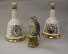 """A collection of commemorative whiskys including Whyte & Mackay Scotch Whisky in """"Peregrine Falcon"""""""