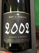 One bottle Moët & Chandon Grand Vintage Champagne 2002 and one bottle Moët & Chandon Grand Vintage